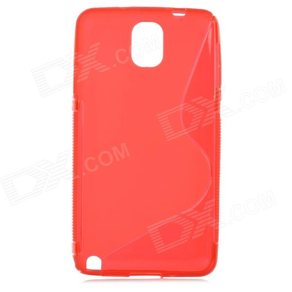S Style Protective PC Back Case for Samsung Galaxy Note 3 N9000 - Red protective aluminum alloy pc back case for samsung galaxy note 3 n9000 more red black