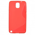 """S"" Style Protective PC Back Case for Samsung Galaxy Note 3 N9000 - Red"