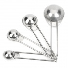 Stainless Steel Different-Size Measuring Spoons - Silver (4 PCS)
