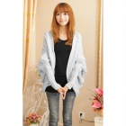 Casual Women's Sweater Coat - White (Free Size)