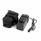 PANNOVO B-C04 Water Resistant 4 x 18650 Battery Pack Case for Bike Lamp - Black