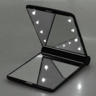 Pocket Make-up Mirror with LED Lighting (Black)