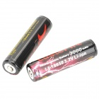 LusteFire Rechargeable 3.7V 3000mAh Lithium Ion 18650 Batteries w/ Protection PCB - (2 PCS)