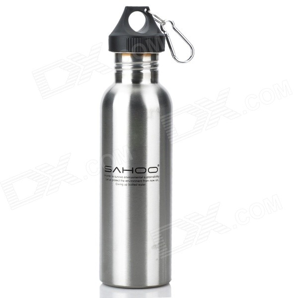 SAHOO 52357 Convenient Stainless Steel Water Bottle for Cycling / Outdoor Sports - Silver (750ml)