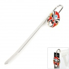 Chinese Opera Mask Style Zinc Alloy Bookmark / Letter Opener - Silver