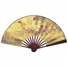 TsingPing Tune 10.7'' Chinese Folding Art Fan - Brown + Yellow