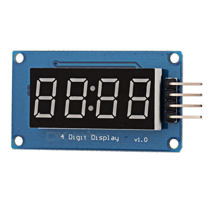 0.36 LED 4-Digit Display Module for Arduino - Black + Blue (Works with official Arduino Boards) lson 0 4 8 digit 7 segment digital display module deep blue 5v