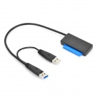 "Nimitz USB 3.0 / 2.0 to SATA 22pin Adapter Cable for 2.5"" SATA HDD - Black (35cm)"