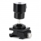 "Aluminum Alloy Swivel 1/4"" Screw to Hot Shoe Adapter - Black"