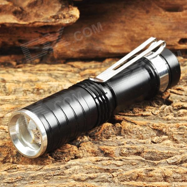 MT-104 60lm 3-Mode White Zooming Flashlight w/ CREE XP-E Q5 - Black (1 x AA / 14500)