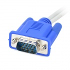15-pin VGA to 4-pin S-VIDEO and AV RCA TV Female Cable - Grey + Multicolor (30cm-cable)