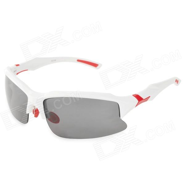 XQ-129 Outdoor Cycling UV400 Protection Sunglasses Goggles - White xq 129 outdoor cycling uv400 protection sunglasses goggles white