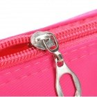 Portable Nylon con cremallera Cosmetic Bag - Deep Pink + Negro