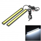 Waterproof 6W 220lm 6000K 60-COB LED Car Daytime Running Light Strip Bar (12V / 14cm)