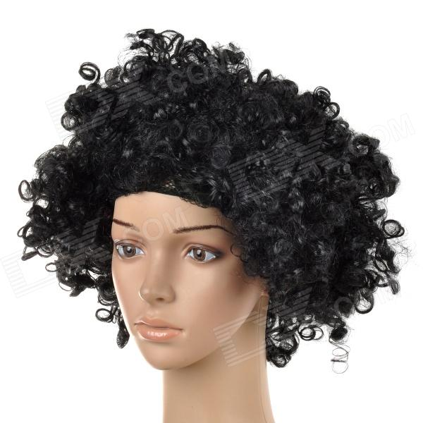 Fashionable Unique Synthetic Fibre Afro Wig for Halloween / Party - Black yeduo black sexy lady lace mask for masquerade halloween party fancy dress costume