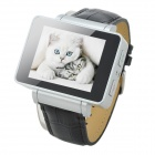 "i6 GSM Watch Phone w/ 1.8"" Resistive Screen, Quad-band, Bluetooth and FM - Black + Silver"
