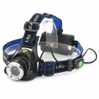 A6 Cree XM-L T6 600lm 3-Mode White Zooming Headlamp - Black + Silver (1 / 2 x 18650)