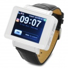 "i6 GSM Watch Phone w/ 1.8"" Resistive Screen, Quad-Band, Bluetooth and FM - Black + White"