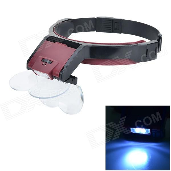 MG81001-B Multipurpose Loop Headband Magnifier w/ LED Light 5lens led light lamp loop head headband magnifier magnifying glass loupe 1 3 5x y103