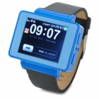 "i6 GSM Watch Phone w/ 1.8"" Resistive Screen, Quad-Band, Bluetooth and FM - Black + Blue"