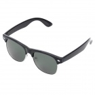 OREKA D8086 Stylish Driving Fishing Polarized Lens Sunglasses - Black + Dark Green