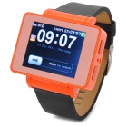 "i6 GSM Watch Phone w/ 1.8"" Resistive Screen, Quad-band, Bluetooth and FM - Black + Orange"