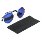 OREKA 3354 Fashionable UV 400 Protection Round Lens Sunglasses - Silver + Blue