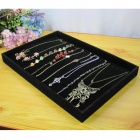 Flannelette Necklace / Bracelet Display Show Case - Black