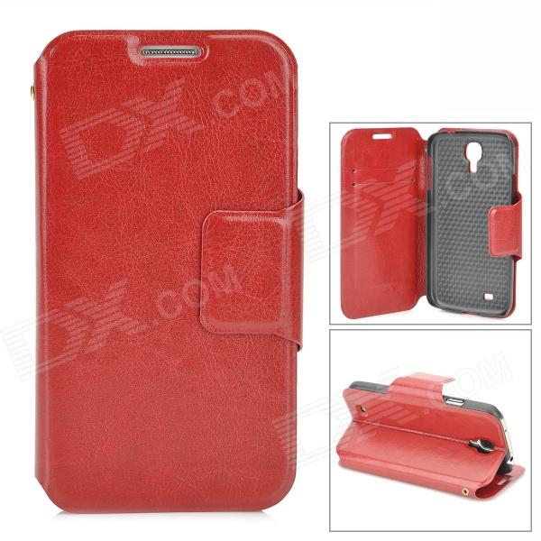Protective PU Leather Flip Case for Samsung Galaxy S4 i9500 - Red стоимость