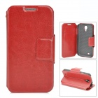 Protective PU Leather Flip Case for Samsung Galaxy S4 i9500 - Red