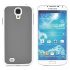 Protective Plastic Hard Back Case for Samsung Galaxy S4 i9500 - Grey + White