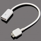 Micro USB 9-Pin Male to USB 2.0 Female OTG Cable for Samsung Galaxy Note 3 N9000 - White (15cm)