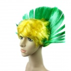 The Brazilian World Cup Fans Cock Wig - Yellow + Green