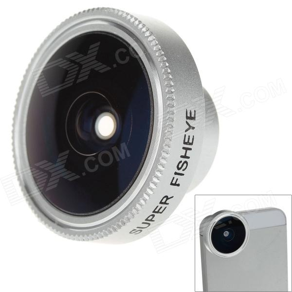 SKINA FE-18 Universal 185 Degree Fisheye Lens for Mobile Phone / Digital Camera - Silver lieqi lq 006 universal 6x zoom optical camera lens telescope for mobile phone black