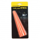 NITECORE NTW34 Plastic Traffic Wand for 34mm Head Flashlight - Orange