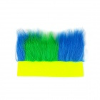 The Brazilian World Cup Fans Curly Wig - Yellow + Green + Blue