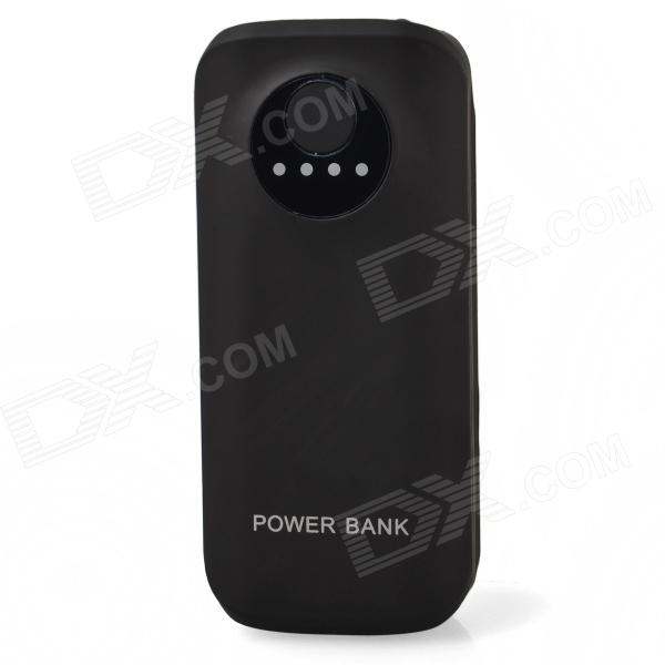 """""""5600mAh"""" Portable External Battery Mobile Power Source Bank for iPhone / iPod + More - Black"""