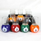 Billiards Cup - Black + Red + Purple + Blue + Green + Yellow + Orange