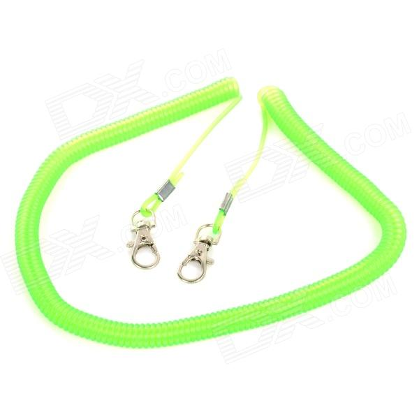 Elastic Fishing Rod Avoid Dropping Rubber Coiled Rope - Green (5M)
