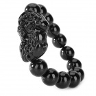 Glass Beaded Bracelet - Black
