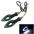 0.2W 60lm 12-LED Motorcycle White Light  Steering Lamp (12V/2PCS)