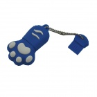 Cat Paw Style USB 2.0 Flash Drive Disk - Blue + White (16GB)