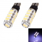T10 8.5W 408lm 17 x SMD 5630 LED White Light Flashing Car Blinker Corner Parking Lamp (DC 12V)
