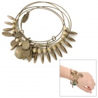 Retro Style Frauen Aluminum Alloy 5-Ring Armband - Bronze