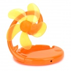 POSEFLY PY12050 USB Powered 5-Blade 1-Mode Fan - Orange (3 x AAA)