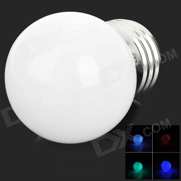 E27 1.5W 100lm 3-SMD LED RGB Light Decoration Lamp - White + Silver (Rated Voltage)