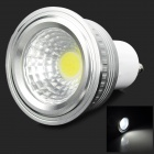 ZX-Y GU10 3W 180lm 6500K White Light COB Spotlight - Silber + Weiß