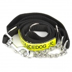 Jiahui A052 Nylon Mid-sized / Large Pet Dog Leash - Black + Silver + Yellowish Green
