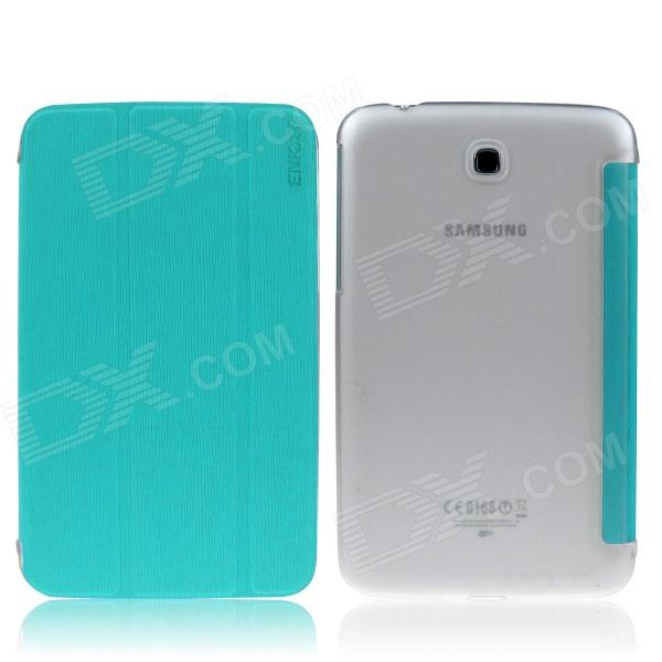 ENKAY ENK-7036 Protective Case Cover for Samsung Galaxy Tab 3 7.0 T210 / T211 / P3200 - Blue Green
