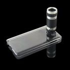 External 8X Zoom Cell Phone Telescope w/ Back Case for Samsung Galaxy Note 3 N9000 - Black + Silver